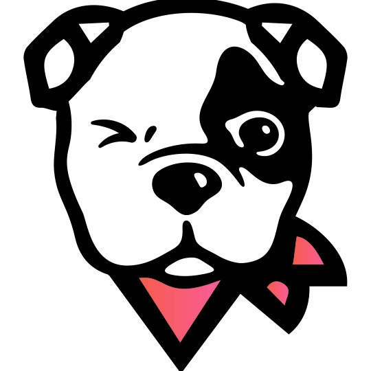 Sugar Skull Madness Calavera Dog Bandana Reversible with Snaps by The Peaceful Pup