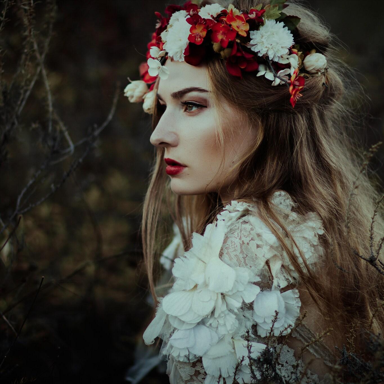 Custom thin flower crown etsy glassandinkstudios izmirmasajfo
