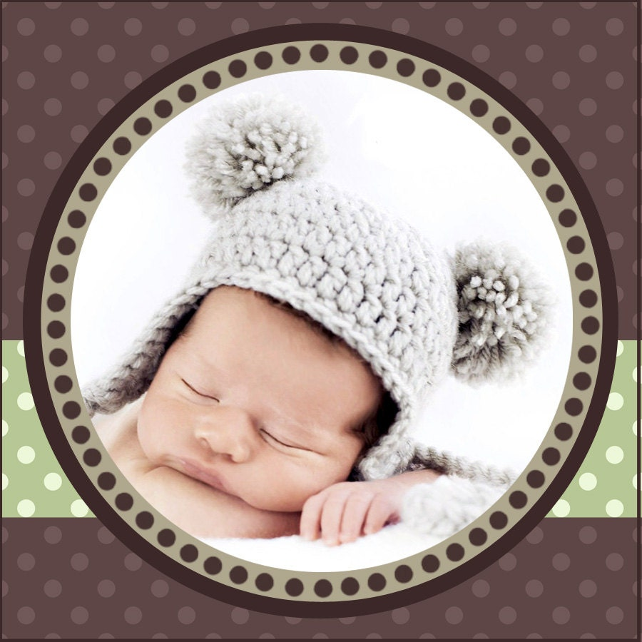 Crochet Baby Hat With 2 Pom Poms b69caea387c