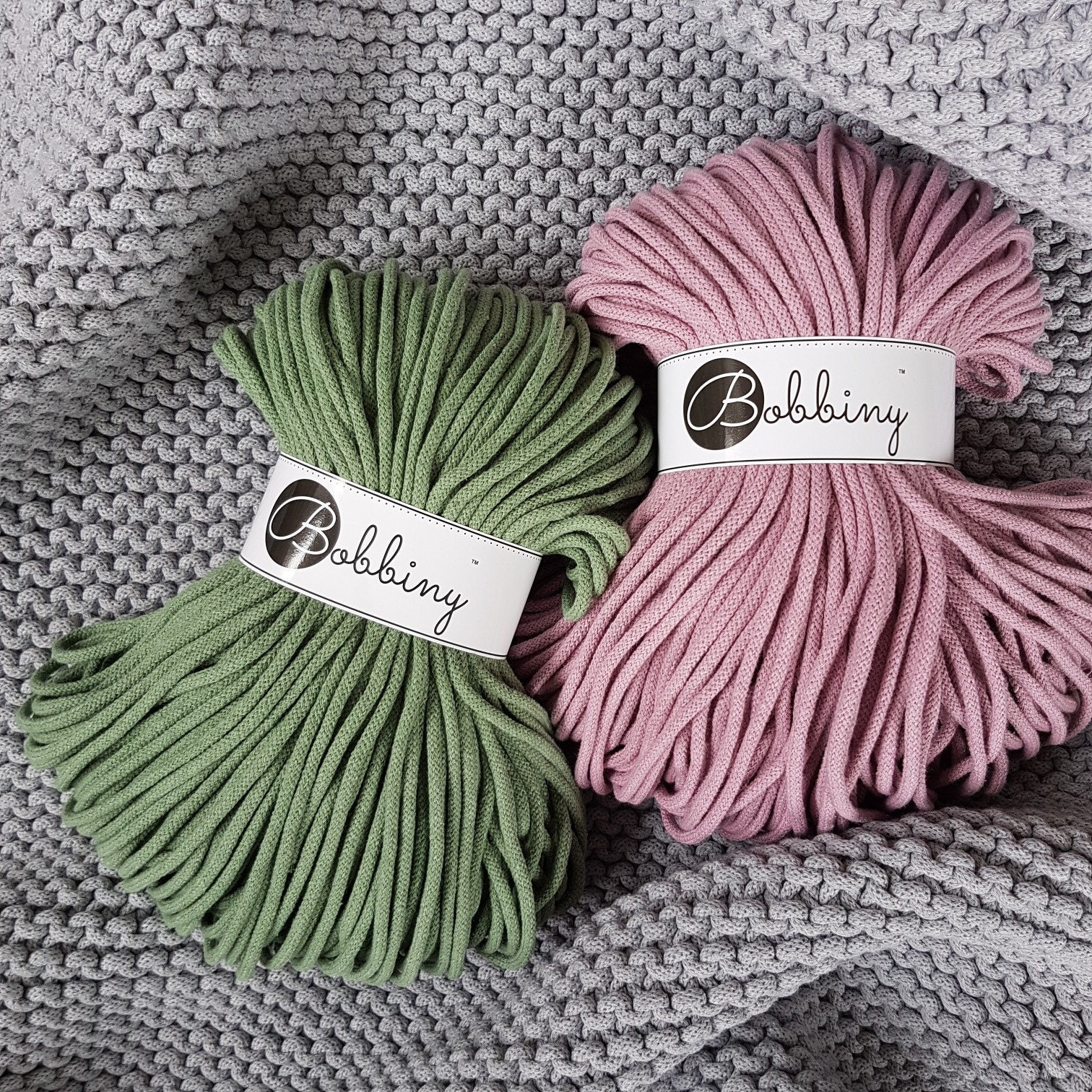 5 mm dusty pink 100 m macrame cord bobbiny macrame braided cotton rope cotton cord premium braided cord