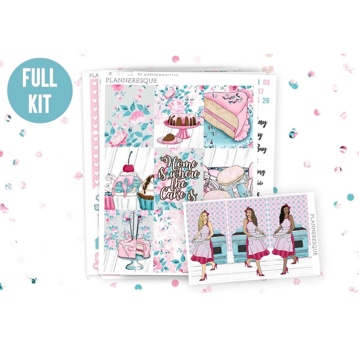 home sweet home full kit erin condren planner stickers happy | etsy