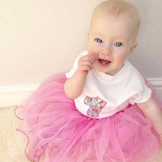 b4968526a3 10 months. How gorgeous does little Autumn look in her first birthday outfit