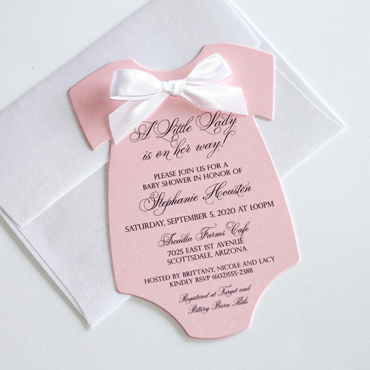 Elegant Handmade Wedding Invitations & by EmbellishedPaperie
