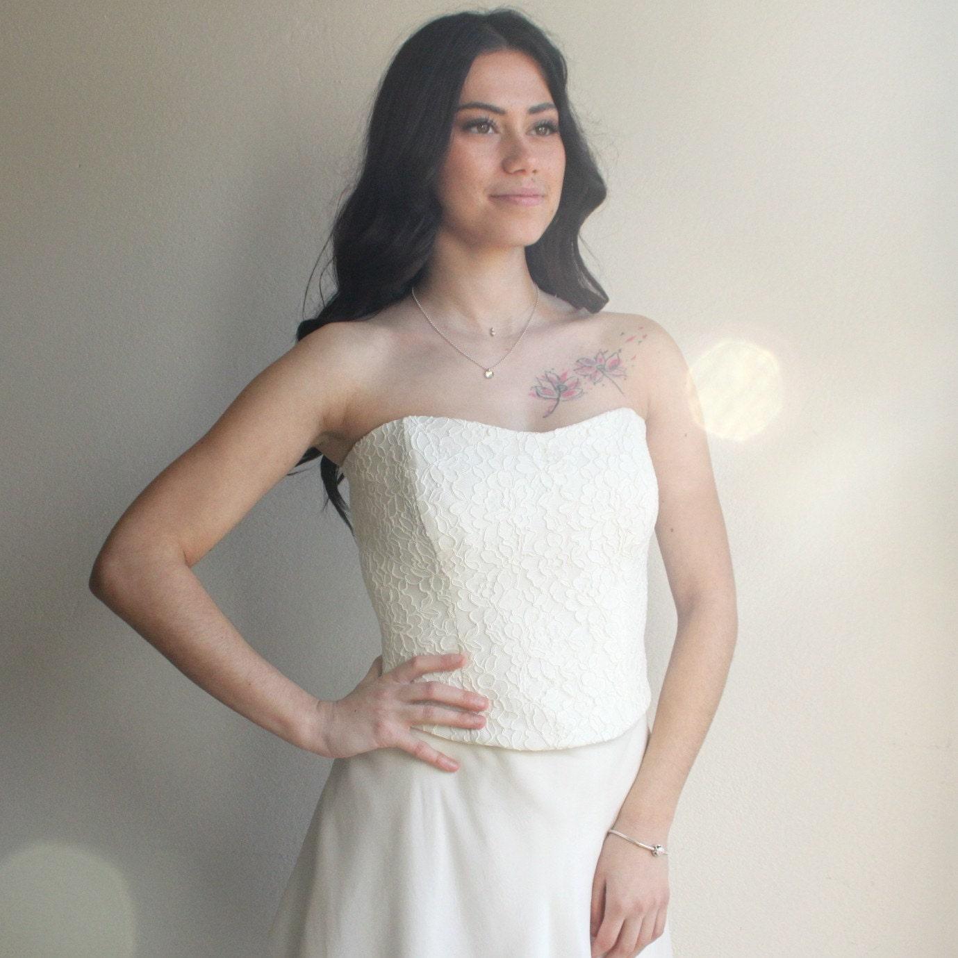 4da9f9a493b39d Lace bruiloft boven lace korset bruids korset kant boven