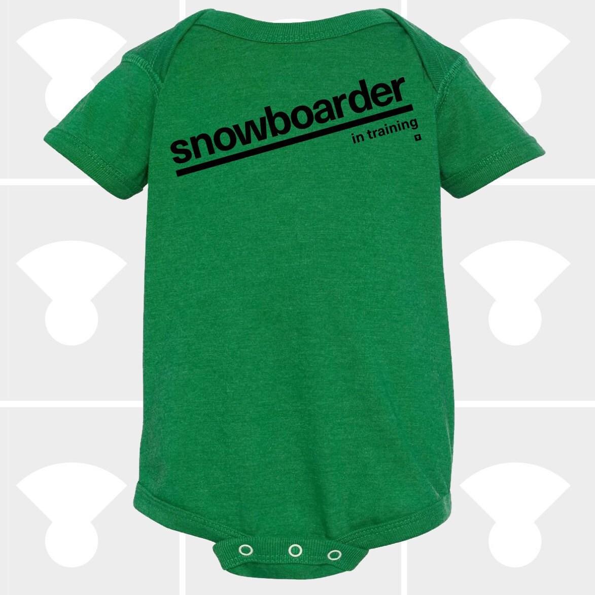 e74d4517d Baby Onesie Snowboarder In Training Funny Onesie Baby   Etsy
