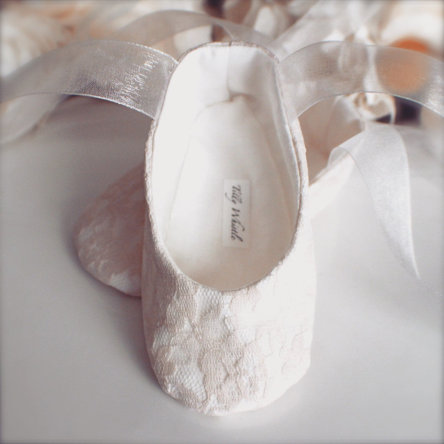 Blush Lace Ballet Slippers Flower Girl Shoes Baby And Etsy