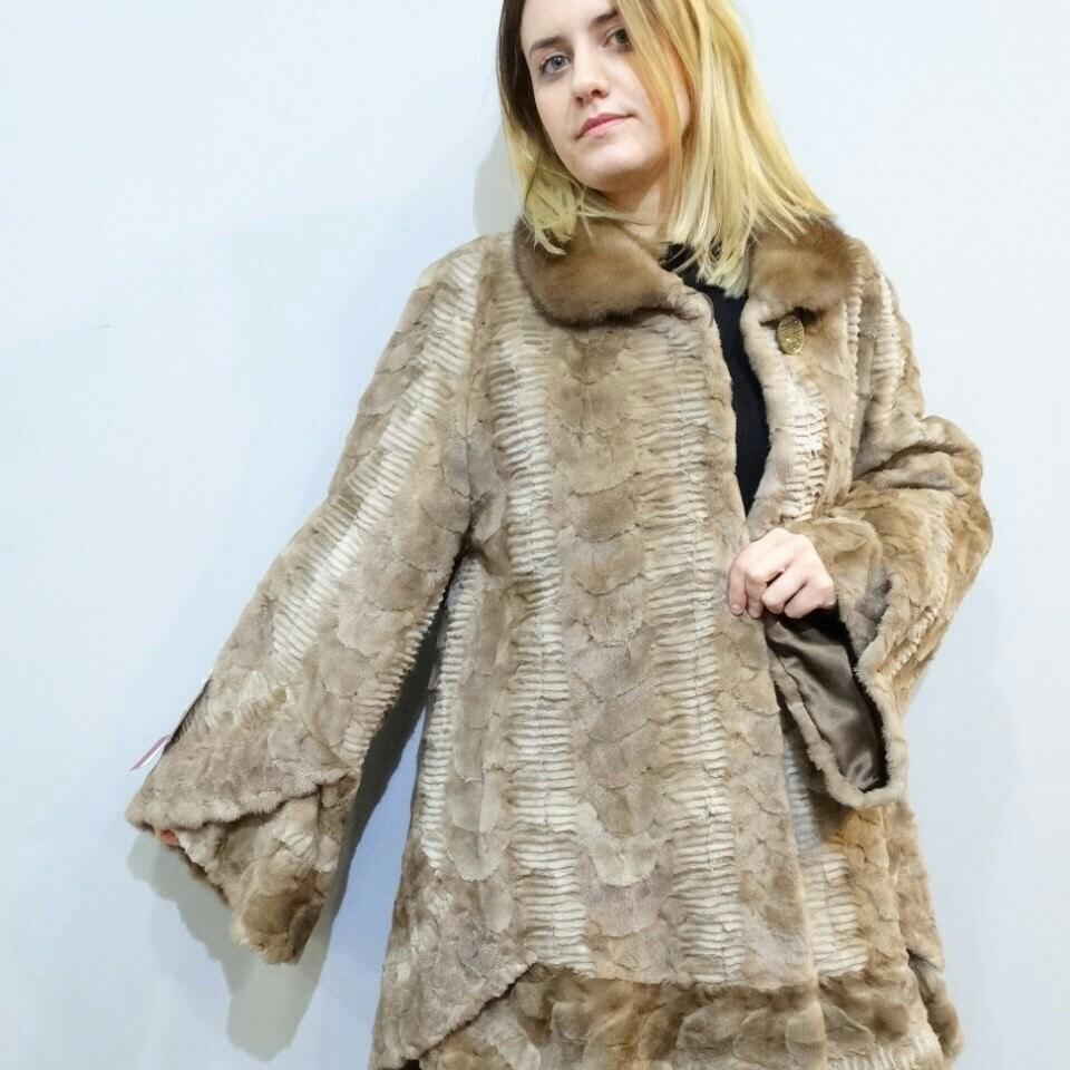 promo code a183f 22b12 Vera pelliccia di visone, pelliccia di visone pezzi tranciati, cappotto di  pelliccia di inverno, lungo cappotto di pelliccia, cappotto di pelliccia ...