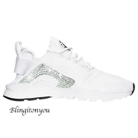 size 40 274bc bf500 Cliquer pour afficher la fiche produit · 2 ans. New Arrival! Nike Air  Huarache Ultra Shoes Custom Blinged with Swarovski Crystal ...