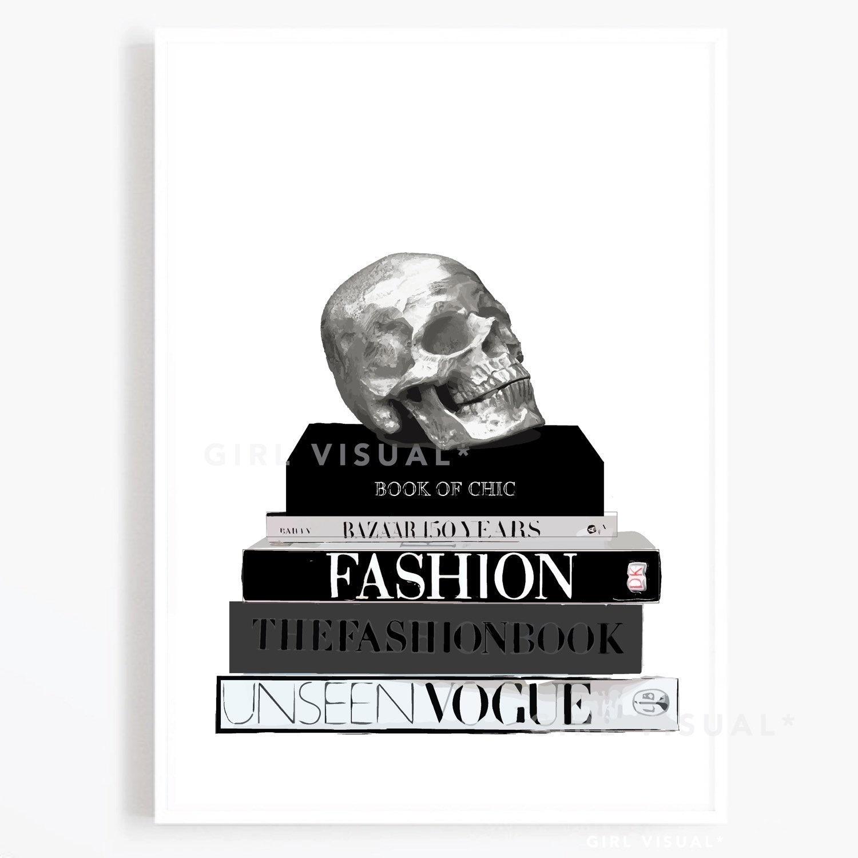 Fashion Book Stack Illustration Fashion Coffee Table Books Etsy
