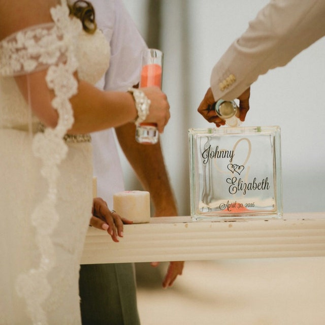 The Original Glass Block Unity Sand By Thedreamweddingshop