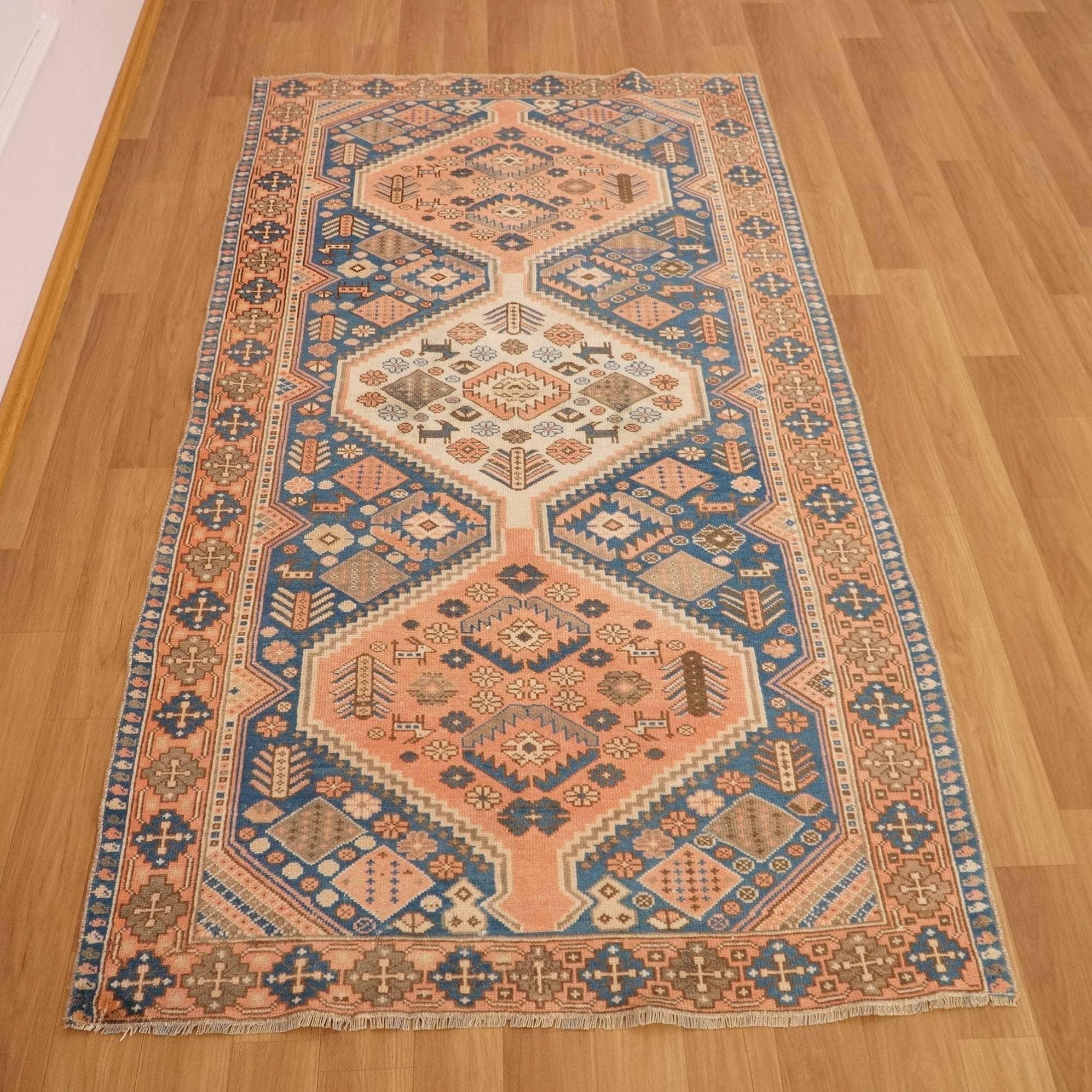 Kitchen rug Turkish area rug Oushak rug Handmade rug Boho rug Kidsroom rug 3.5 x 6.4 Ft Cod5797 Aztec rug Oriental rug Vintage rug
