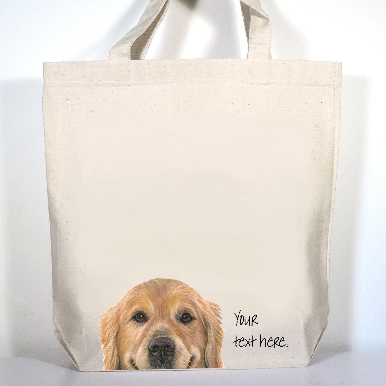 Golden Retriever Dog Large Leather HandbagDog Lover Tote Bag Print Both Sides