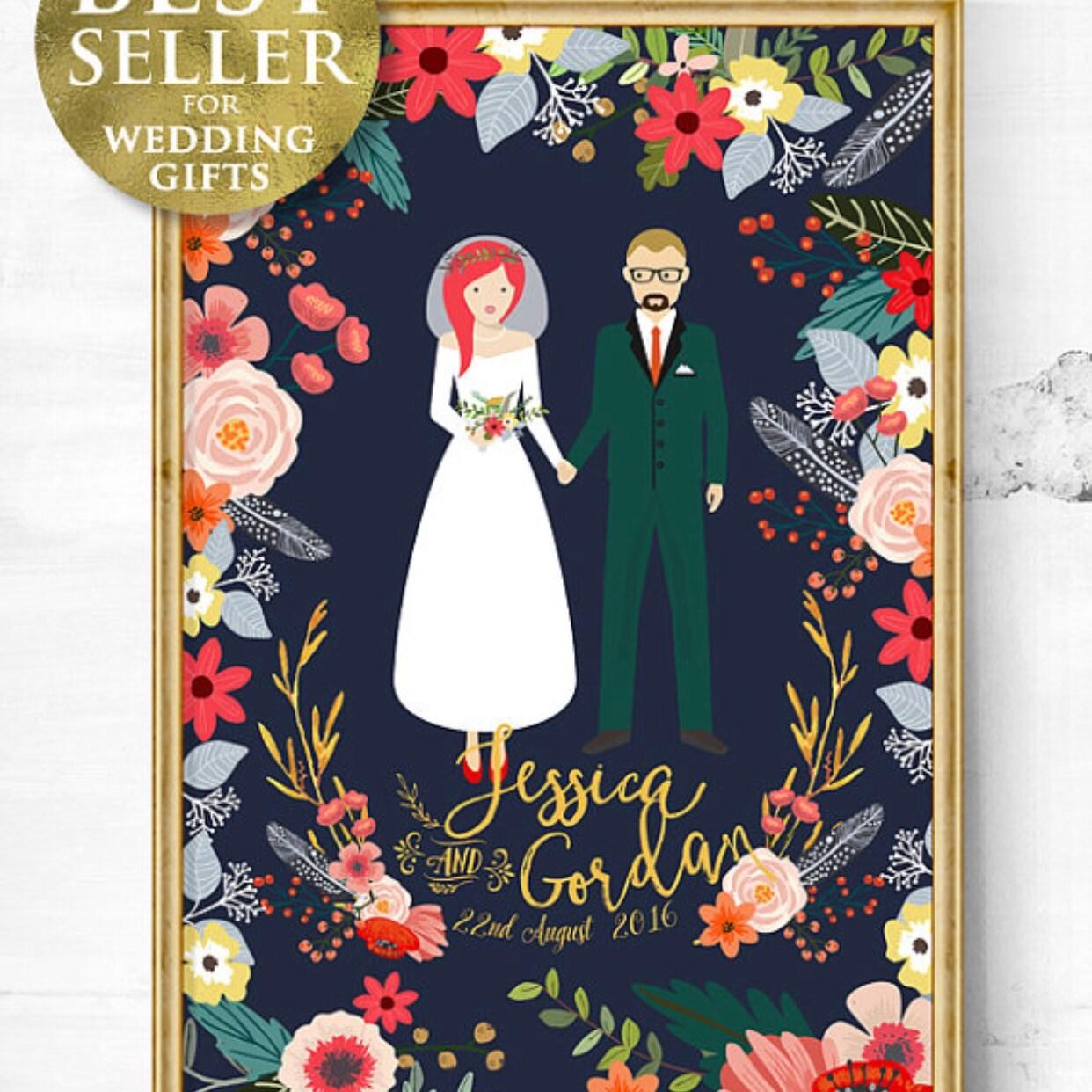 Custom Wedding portrait unique wedding gift Personalized Etsy