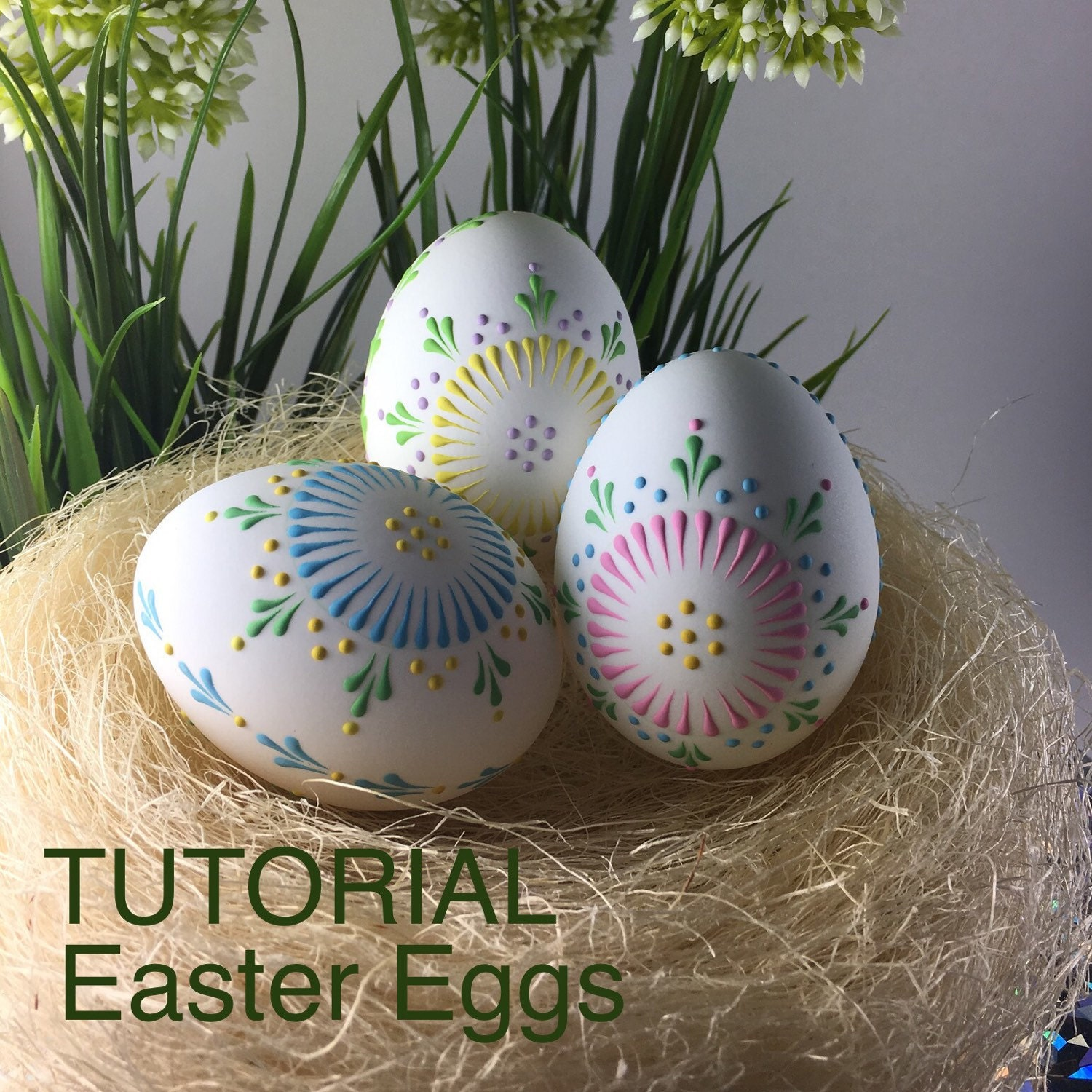 Straußenei Green Blown Out Decoration Deco Easter Egg Easter Decoration Egg Strauss