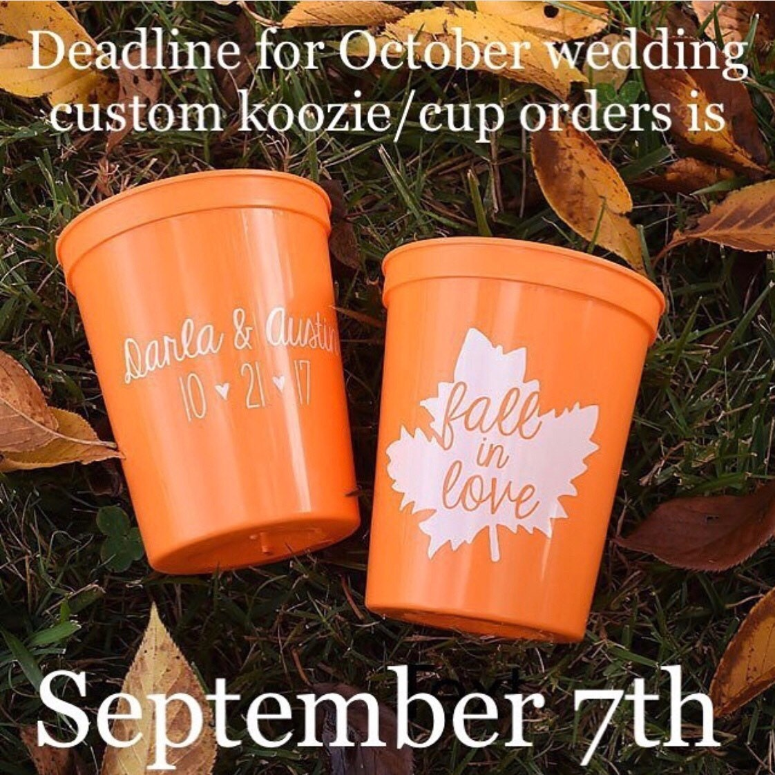 2208fbb4082943 Fall Wedding Favors Fall in Love Rustic Personalized Wedding