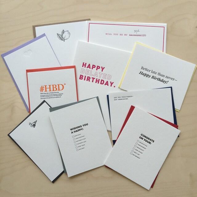 c54a91c88b Cow Goes Moo Letterpress Greeting Cards   Stationery by wegomoo