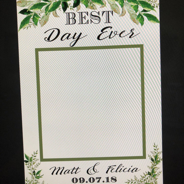 photo booth frame wedding photo booth props wedding wedding | Etsy
