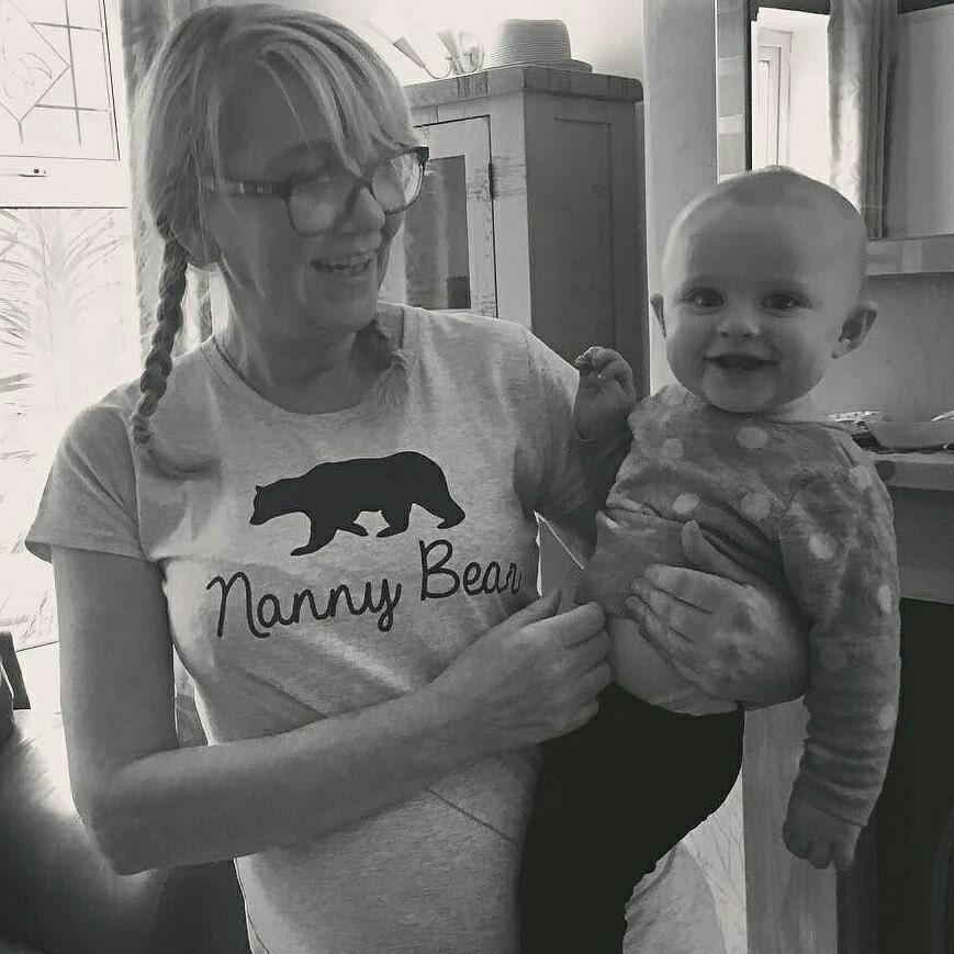 Nanny Bär Tshirt Mütter Tagesgeschenk Nana