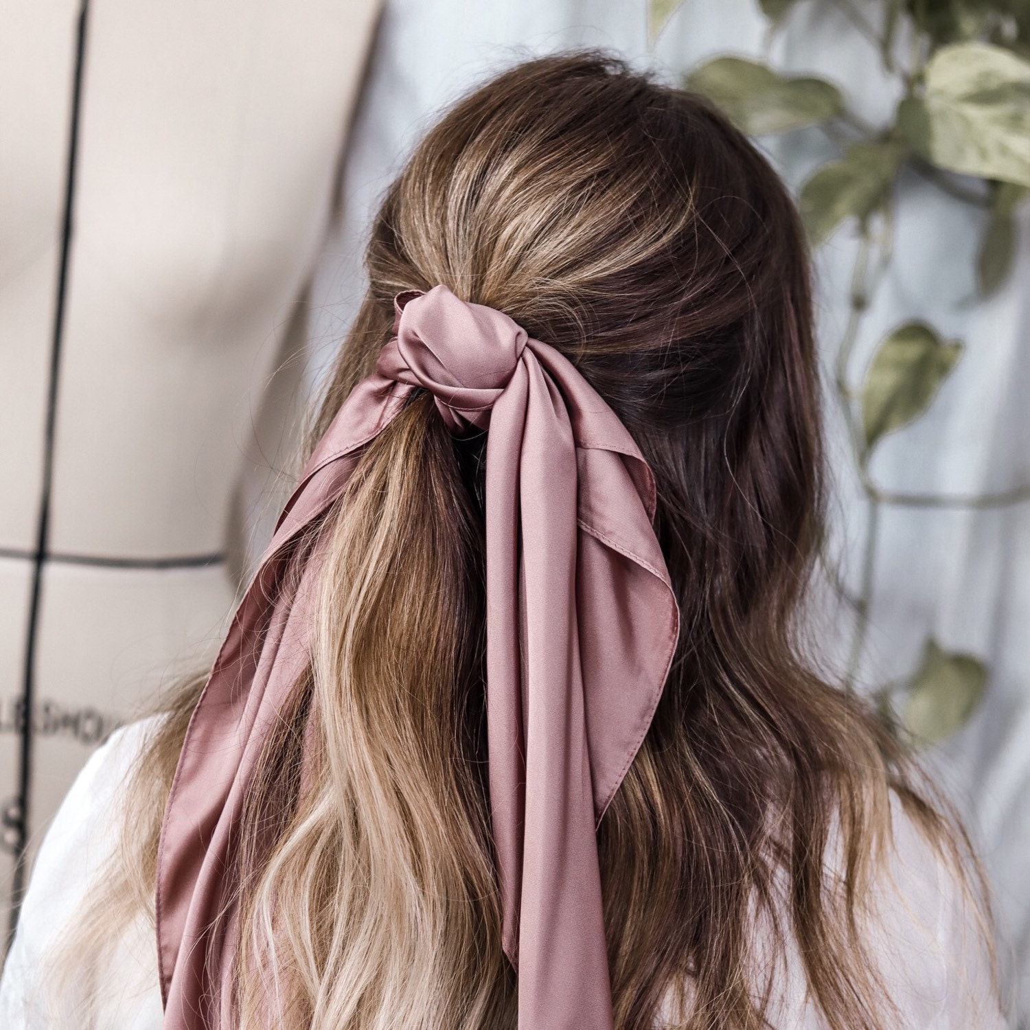 Bride To Be Gift Luxury Silk Hair /& Neck Scarf Head Band Bridal Hair Scarf Silk Scarf Headband Hair Accessories