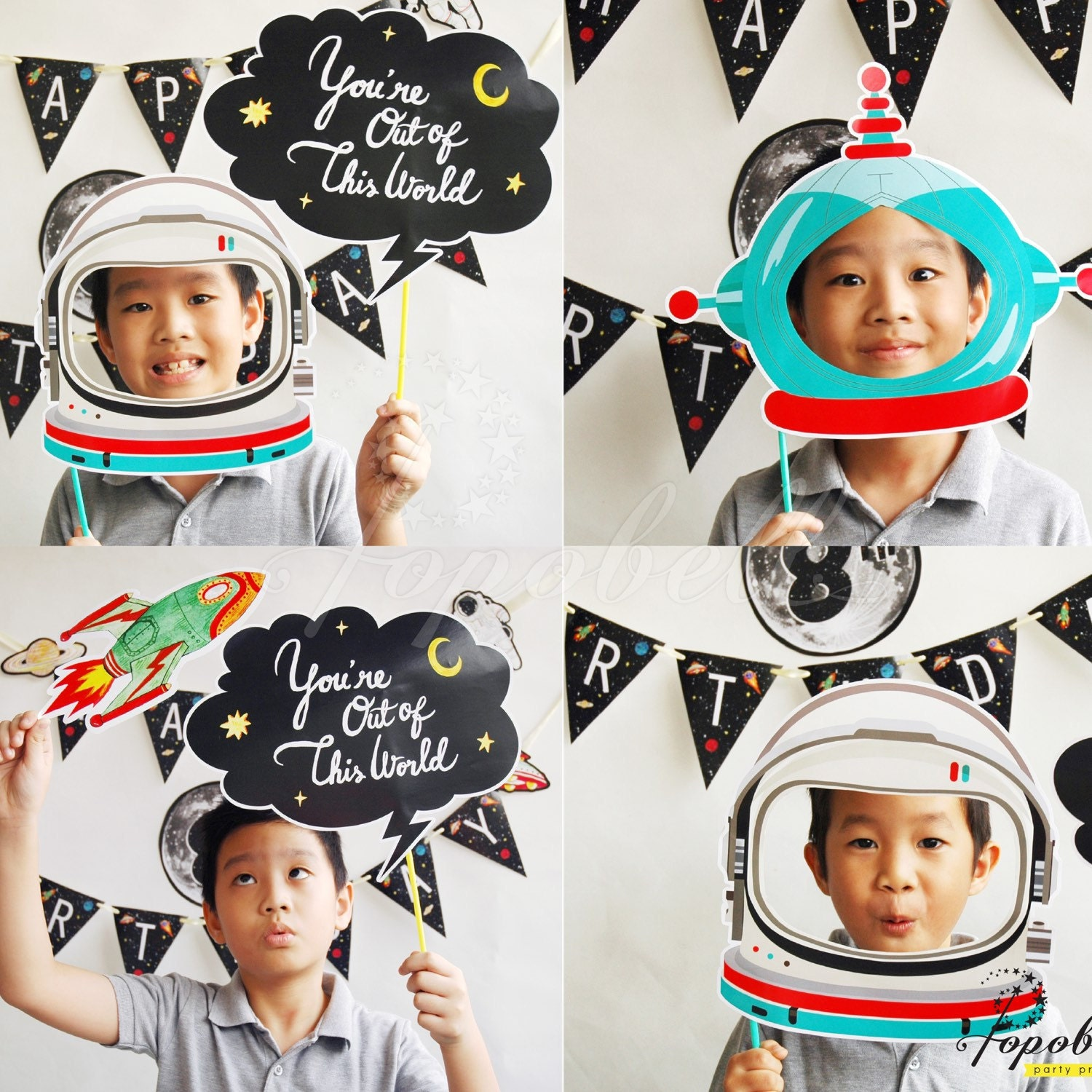astronaut party printables - HD1500×1500