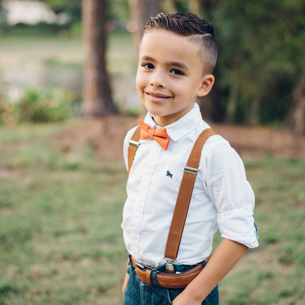 Mens Sizes Fall Plaid Bow Tie /& Coffee Brown Suspenders --- PERFECT for Ring Bearer Outfit Thanksgiving Baby Wedding Groomsmen
