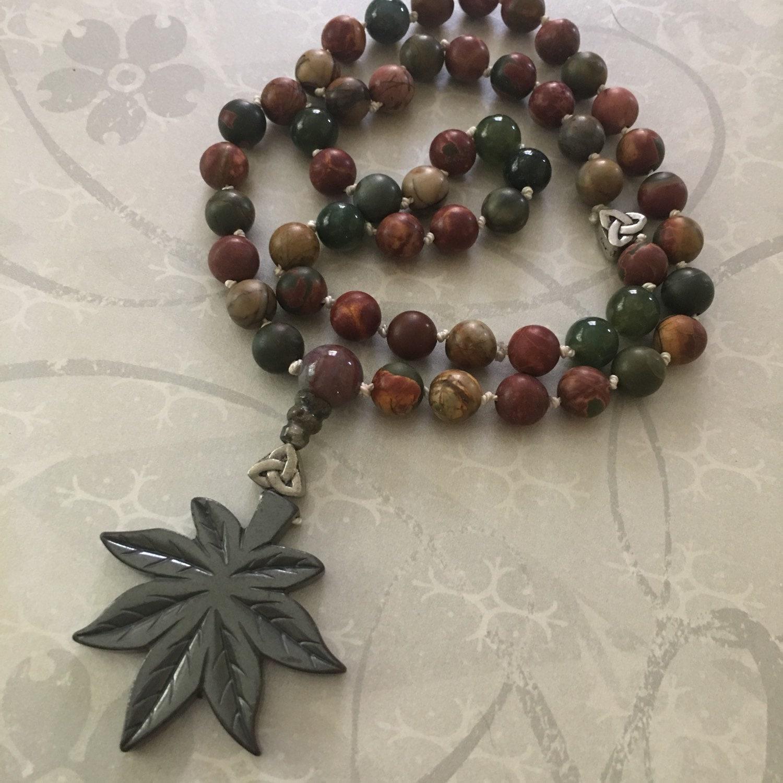 Yoga Beads: Meditation Mala Yoga Beads Hand Knotted Mala Pocket Mala