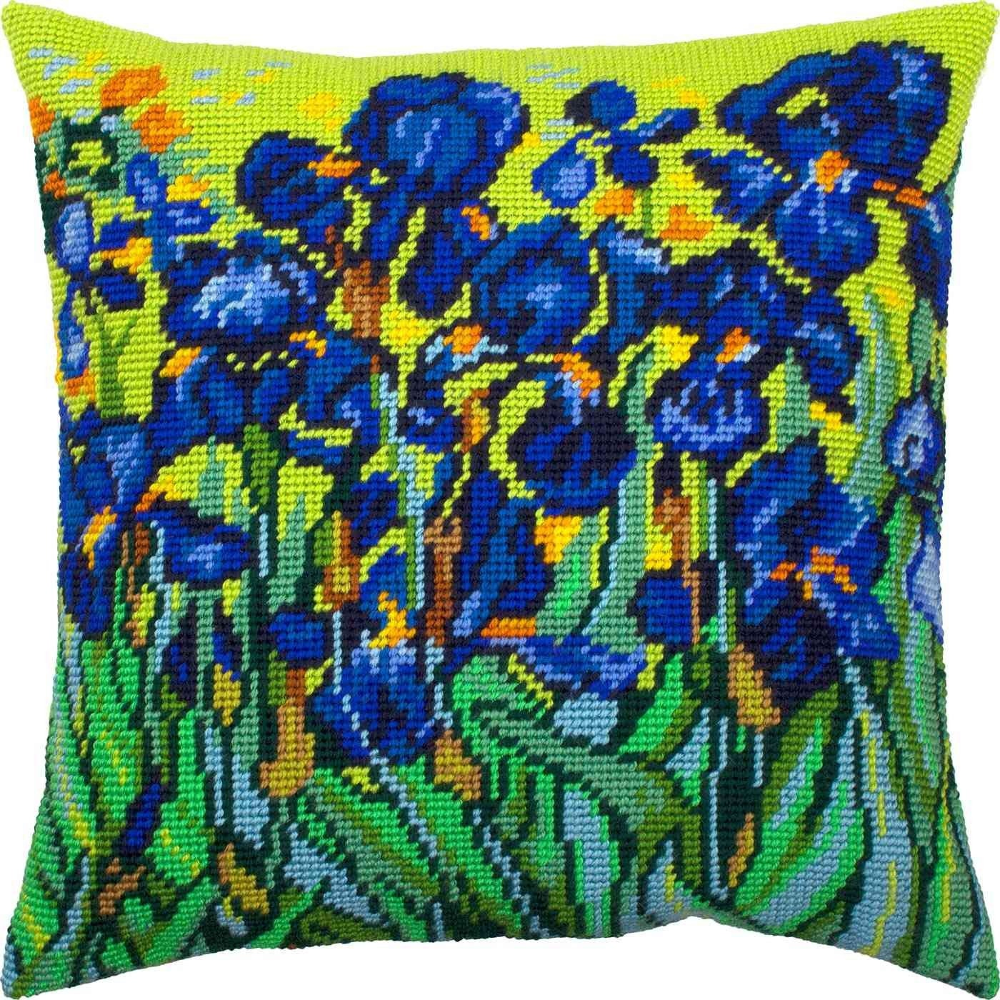 with Backing Needlepoint Kit Printed Tapestry Canvas European Quality Throw Pillow 16/×16 Inches London