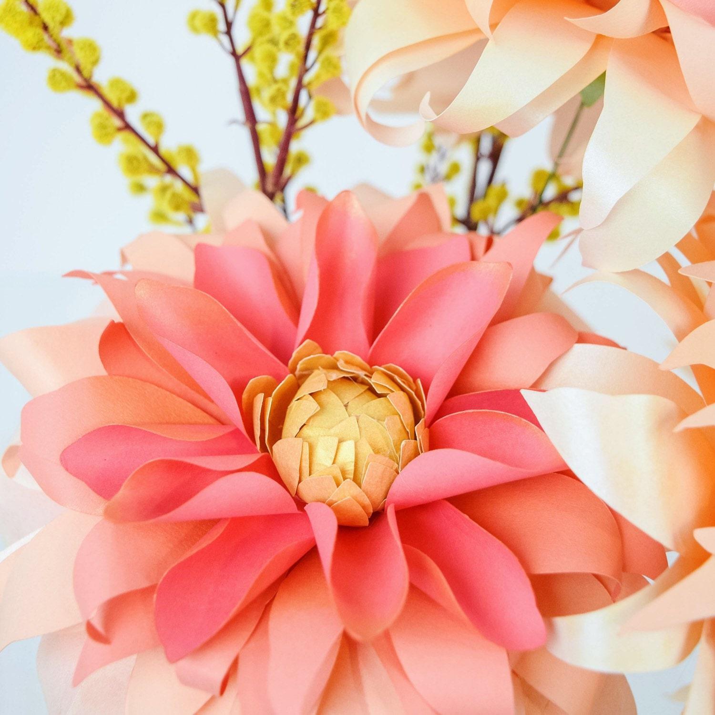 Make a Paper Dahlia Flower | DIY Network Blog: Made + Remade | DIY | 1500x1500