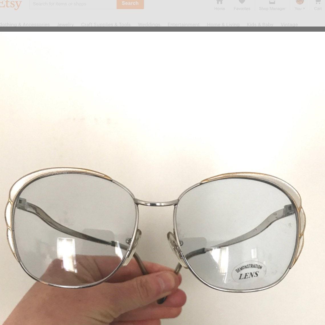 d64e269111 Whoa! You can t buy your own item. Close. Vintage Floral Petal Bubble  Eyeglasses.