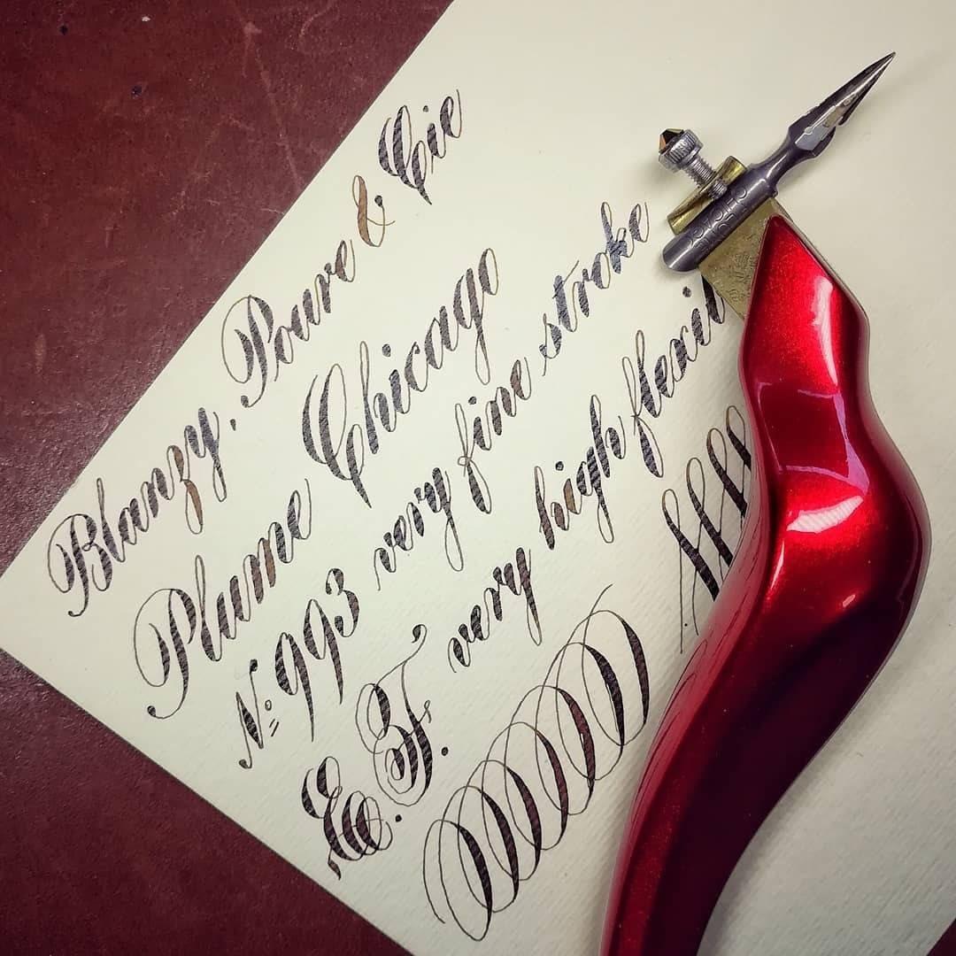 Baignol /& Farjon 2730 EF Henry Superieure Vintage nib   calligraphy Styles of Pointed Pen Script Spencerian Copperplate Penmanship No