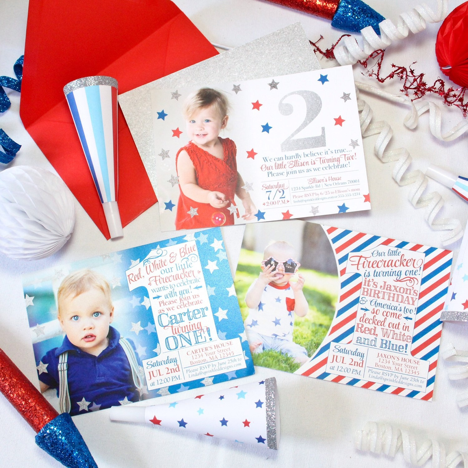 Whoa You Cant Buy Your Own Item Close 4th Of July First Birthday Invitations