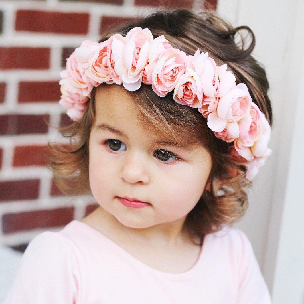 Baby Floral Crown Floral Crown Baby Floral Crown Toddler Etsy