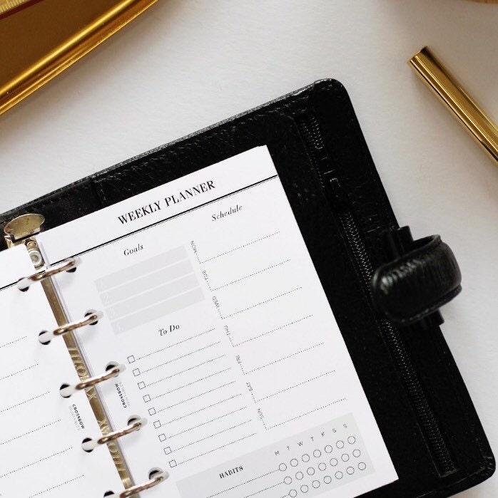 Modern Planner Inserts Planner Printables & by