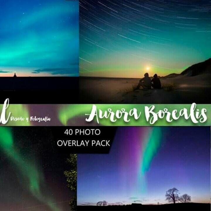 AURORA BOREALIS Photoshop Overlays Photoshop Overlay