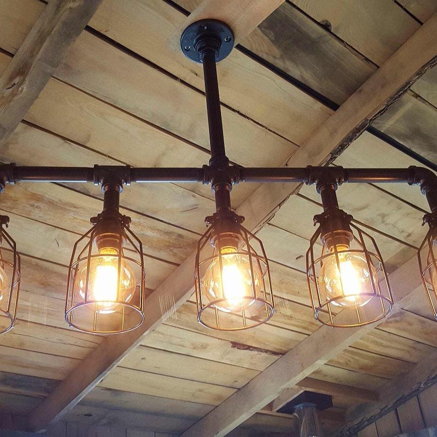 Funky Rustic Galvanized Pendant Light Via Etsy: Rustic Industrial Lighting Chandelier UL LISTED GALVANIZED