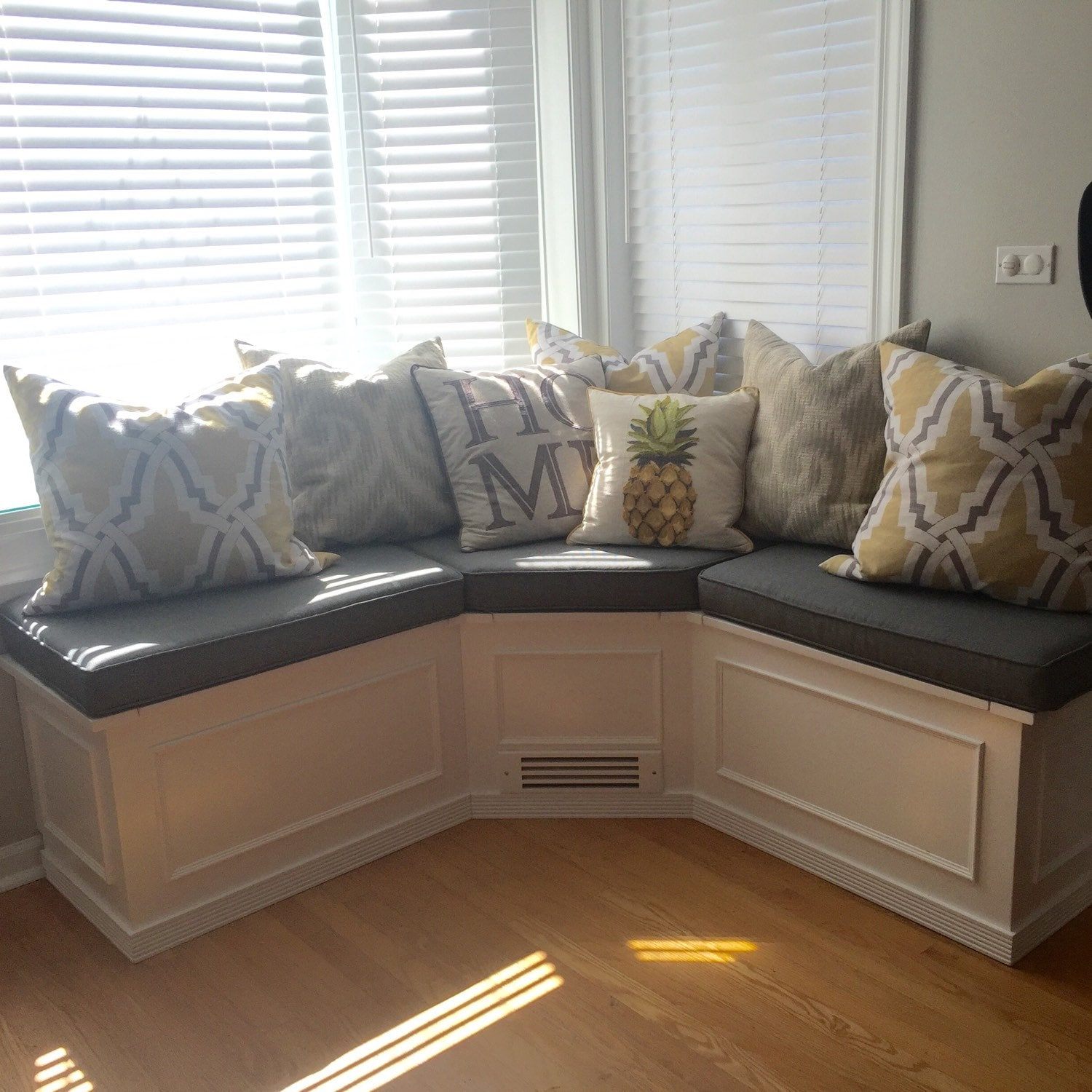 Banquette Corner Bench Seat With Storage Unfinished Raw Wood Etsy