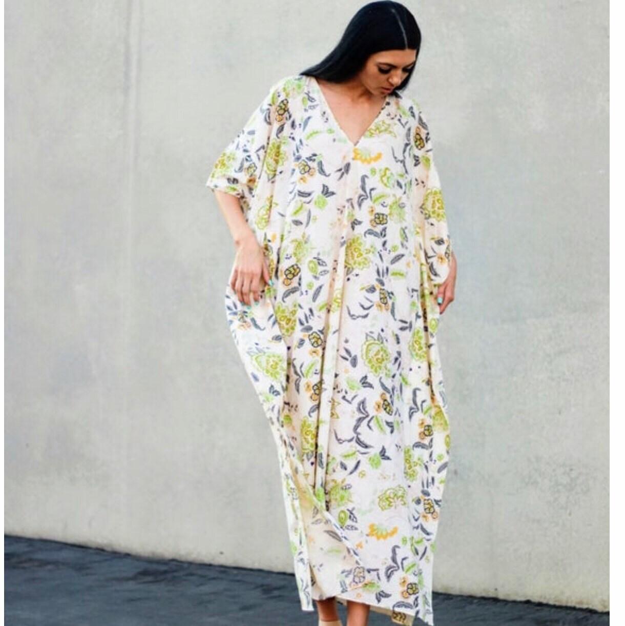 Handmade Kaftan,Cotton Kaftan,caftan,Resort wear,Cotton sleepwear,loungewear,Swim cover up,cotton nightwear,boho dress,gifts for her