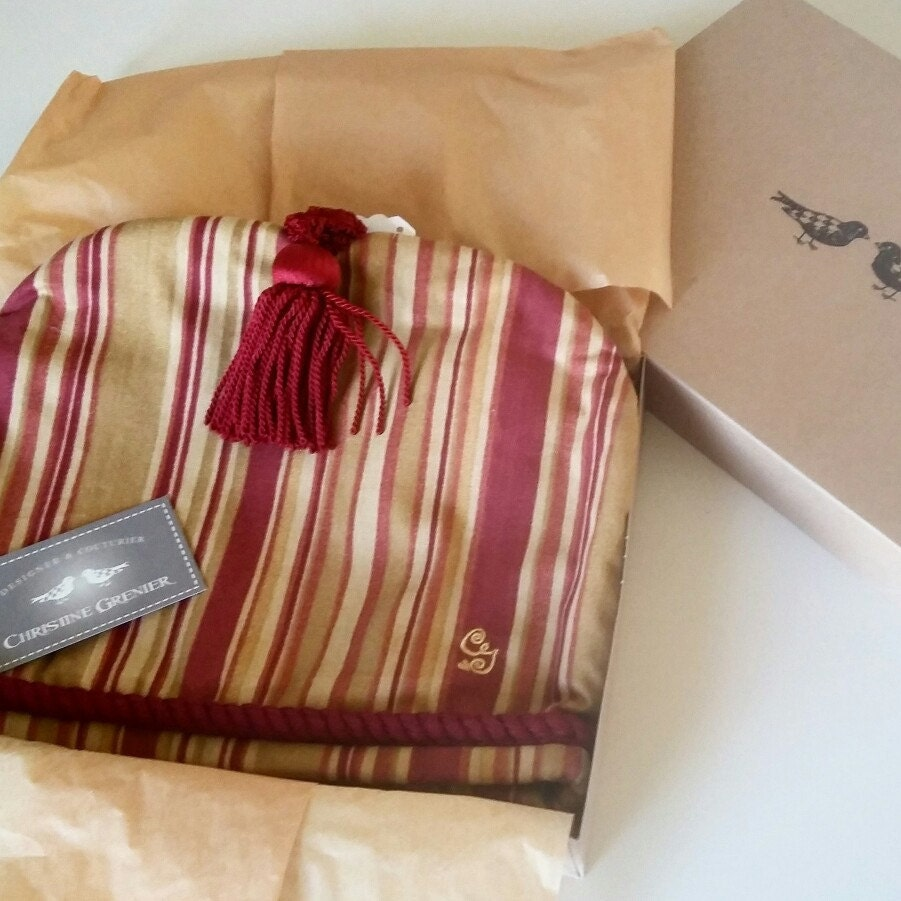 Tee-Verbena cosies Streifen rot gold Geschenk einzigartige