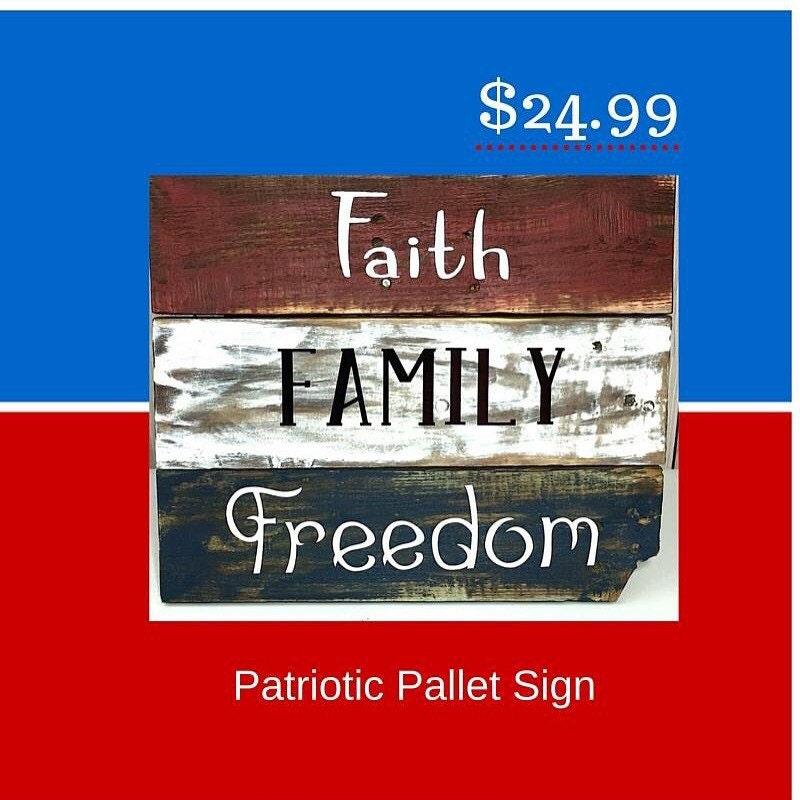 Americana Wall Decor Plaques Signs: Patriotic Decorations Americana Decor Wooden American Flag