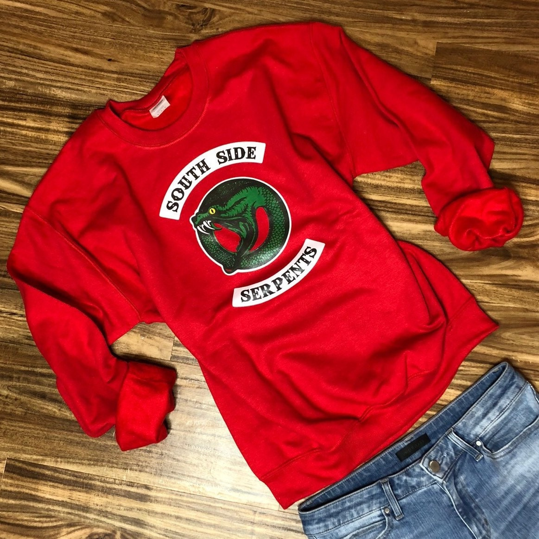 Cheryl Blossom Bright Red South Side Serpents Sweatshirt