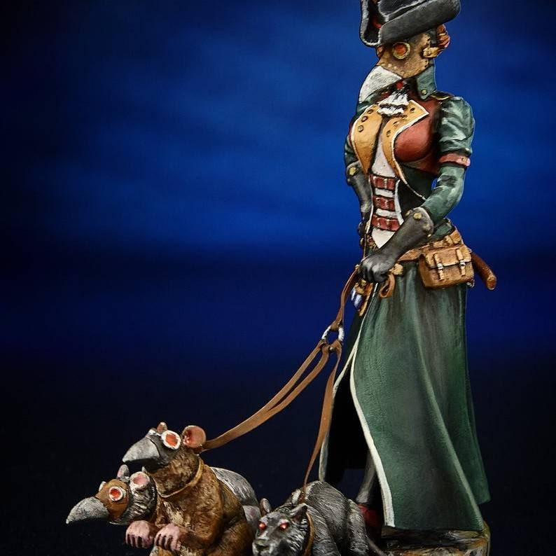 1//24 75mm Model Kit Mongolian Archeress Unpainted Resin Figure Figurine Statue
