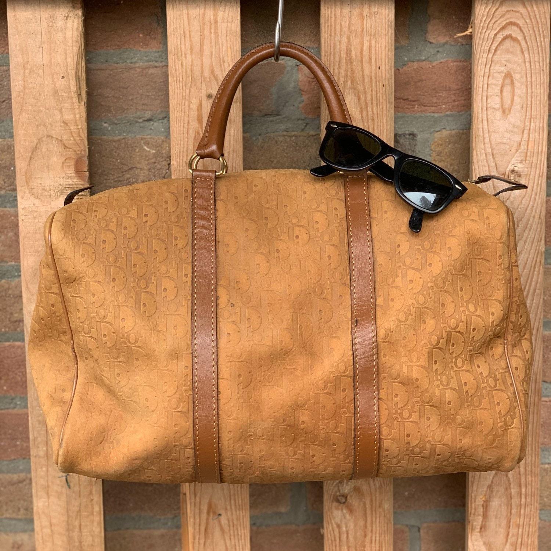 3e960f0d19ab Speedy 40 cm Dior tan suede monogram pre-loved duffle bag
