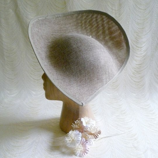 92e055b4f40 Oi! You can t buy your own item. Close. Large Taupe Beige Brown Hat Base  Straw Fascinator Hat Form for DIY Hat Millinery Supply ...
