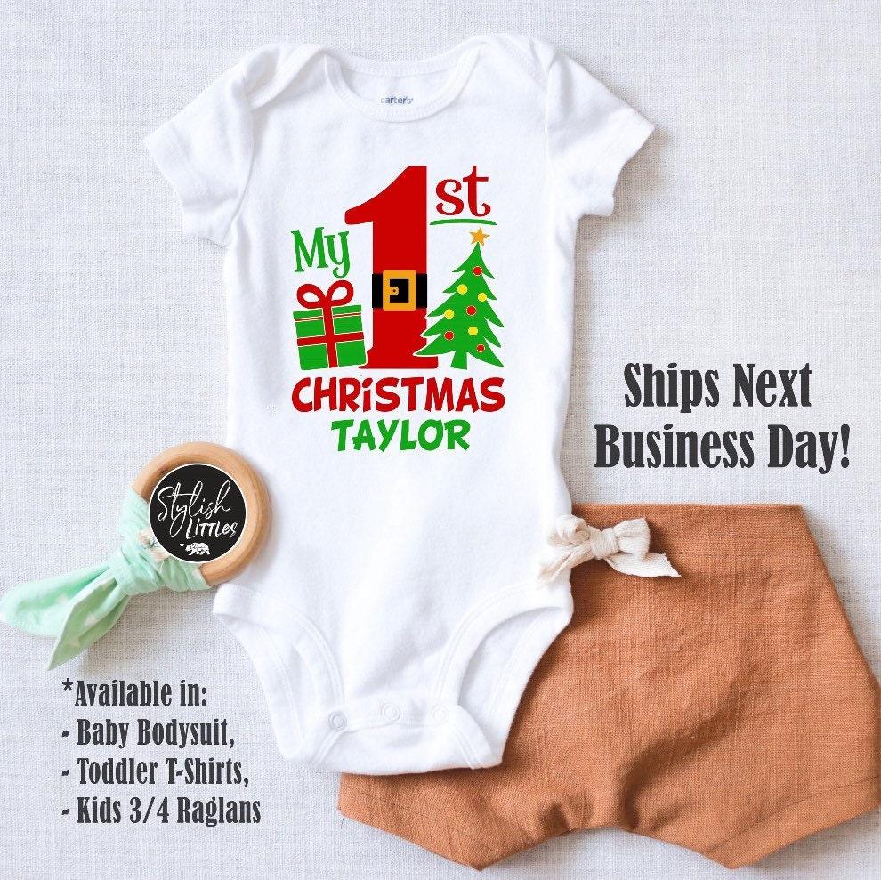 I Believe Santa Hat Personalised 1st Christmas Baby grow,Bodysuit,Baby onsie