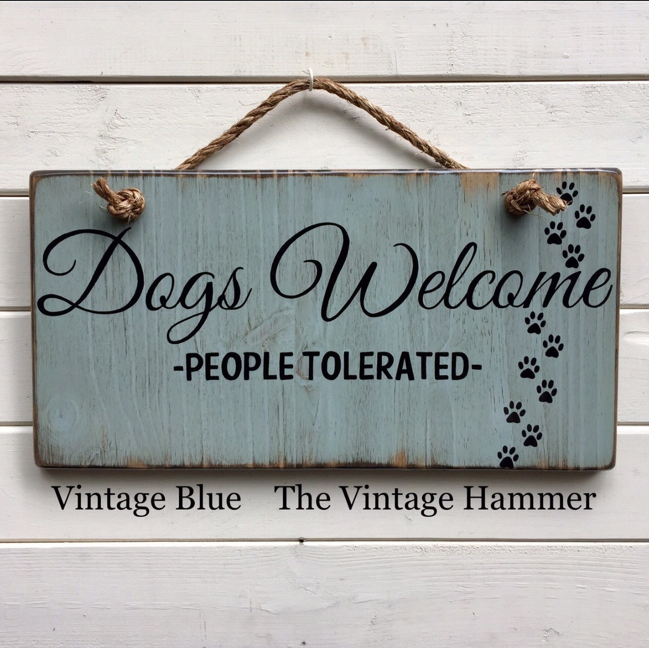 Dog Welcome Sign color choices wood sign