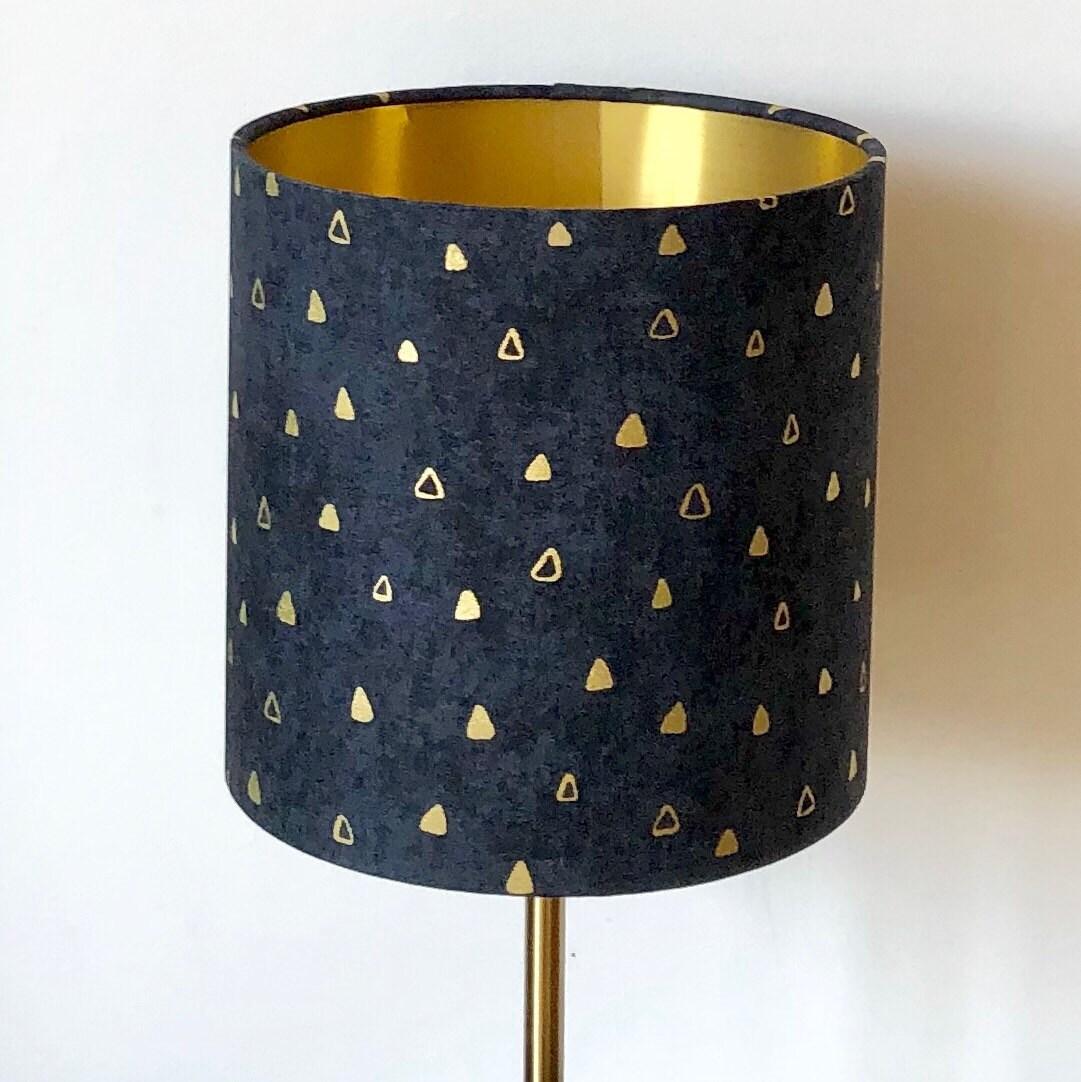 Black Gold Lampshade Gustav Klimt Metallic Lamp Shade Table Or Ceiling Lamp Black Lamp Robert Kaufman Fabric