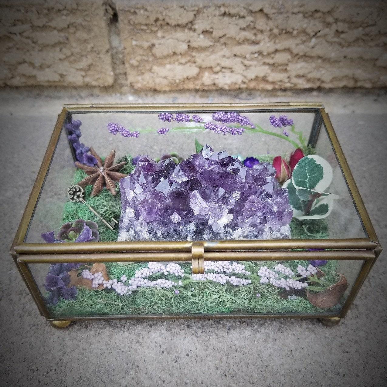 Crystal Garden Crystal Terrarium Healing Crystals Etsy