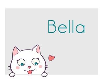CAT STICKERS - BELLA