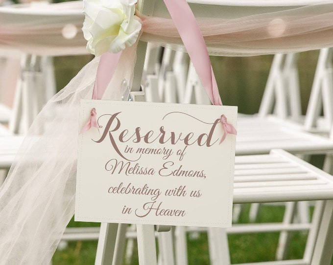 Reserved+Memorial Signs