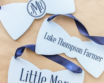 Fabric Bow Tie Signs